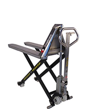 Hygienic manual transporting and lifting to the right working height