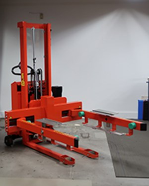 Samples custom-built products, Custom-built Rotator for the handling of plastic boxes