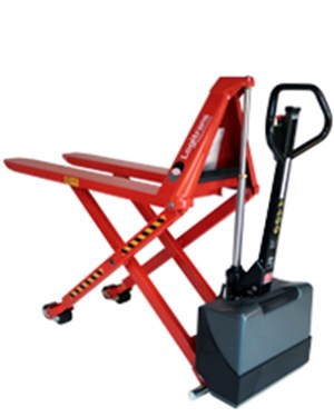 Manual transporting and electric lifting to the right working height