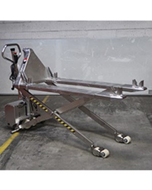 Samples custom-built products, Stainless highlifter for transporting of trolleys